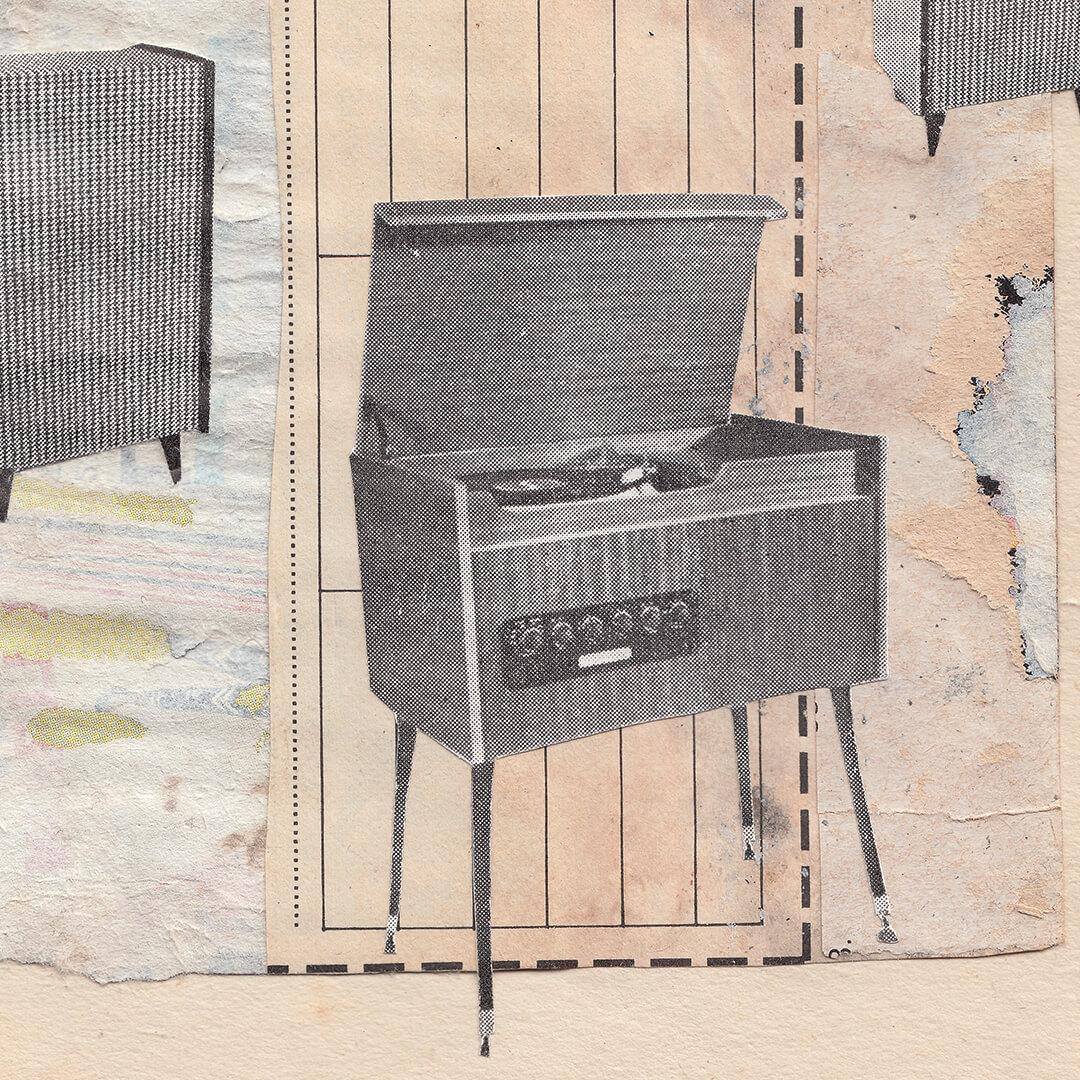Original Hand Cut Analog Collage - 'Home' detail