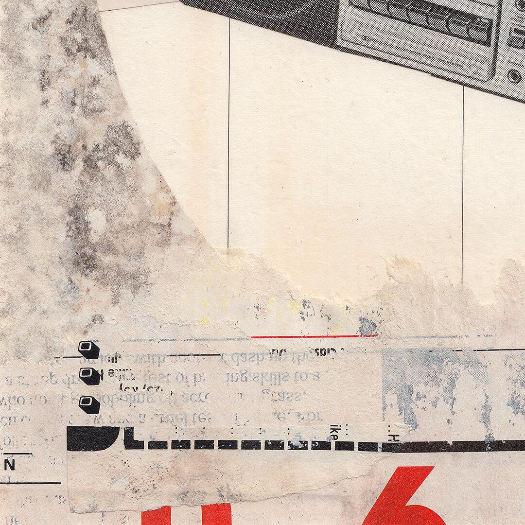 Original Hand Cut Analog Collage - 'Vaya' detail 2